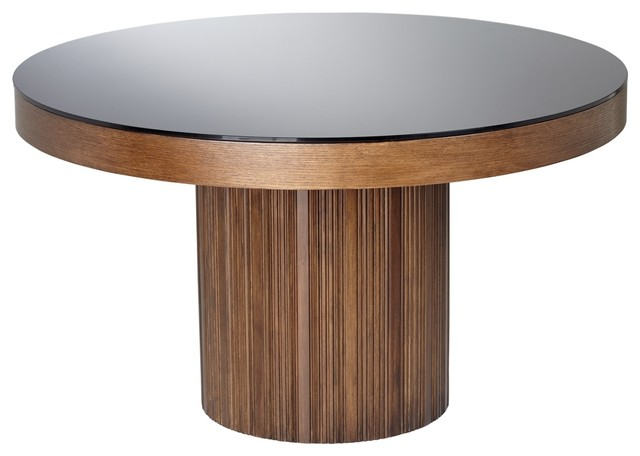 Jakarta Solid Wood Tempered Glass Dining Table