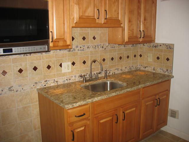 kitchen remodel floor backsplash traditional kitchen