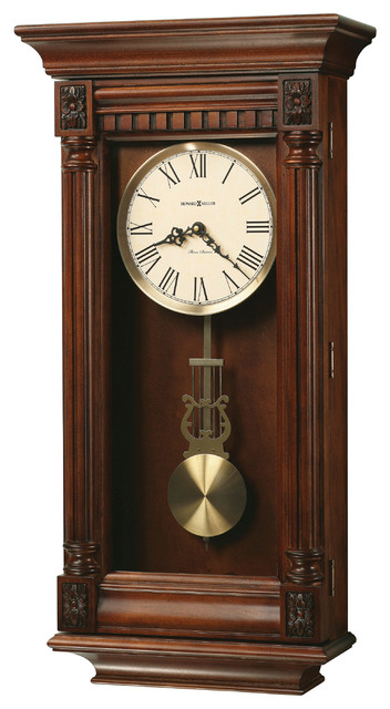 Howard miller triple chime contemporary pendulum wall clock lewisburg contemporary wall - Contemporary wall clocks with pendulum ...