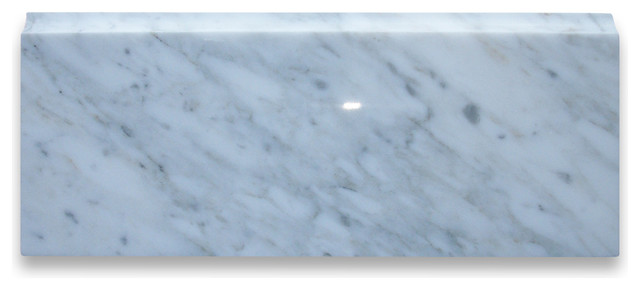 Carrara White Marble Baseboard Trim Molding 4x12 Polished