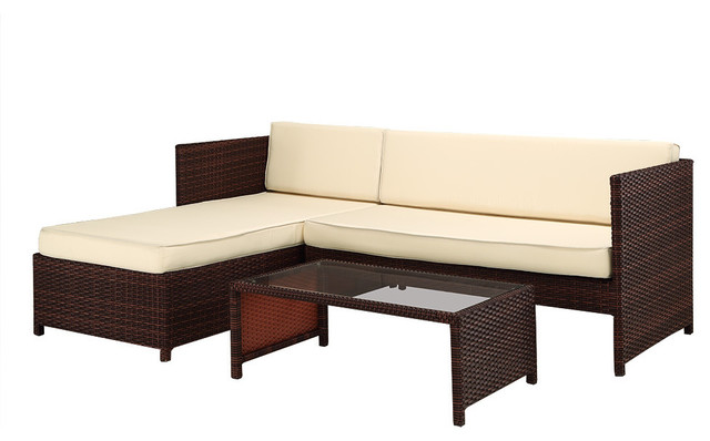 marbella outdoor sectional sofa and coffee table set