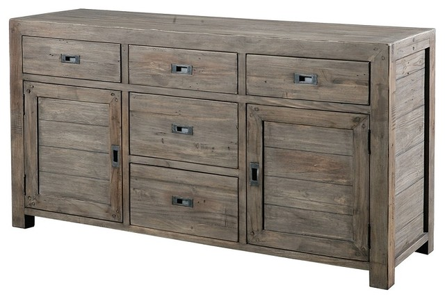 Parsons Sideboard Buffet 61''- S.Ash - Rustic - Buffets ...