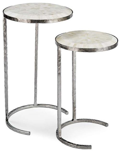 Regina andrew bone veneer nesting tables modern side for Coffee tables regina