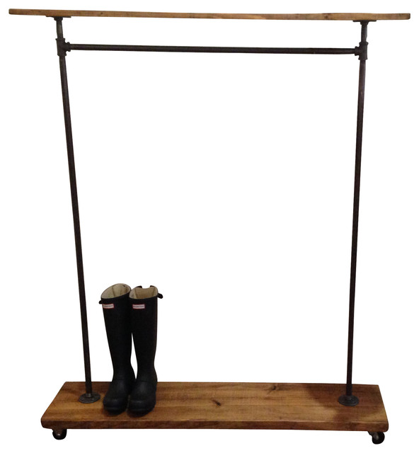 Abigail Recycled Piping Garment Rack Industrial