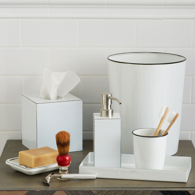 enamel bath accessories contemporary bathroom accessories by