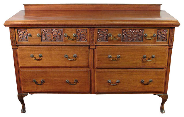 Antique Queen Anne Mahogany Buffet Sideboard Server - Victorian - Buffets And Sideboards - by ...