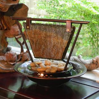 Haiku moon tabletop water fountain asian indoor - Japanese indoor water fountain ...