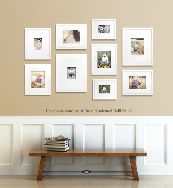 Gallery wall ideas farmhouse chicago by change of art for Picture wall decor