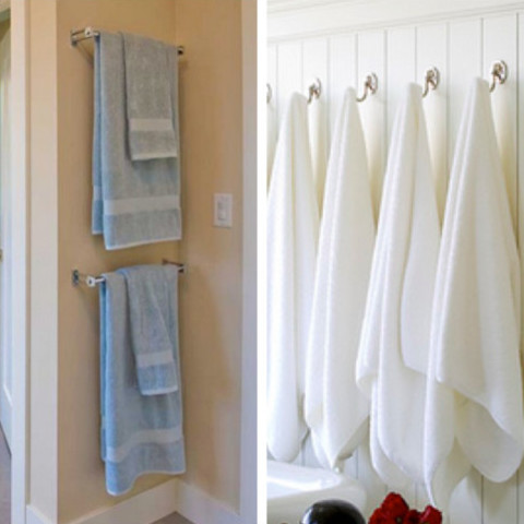 Towel hooks for bathrooms