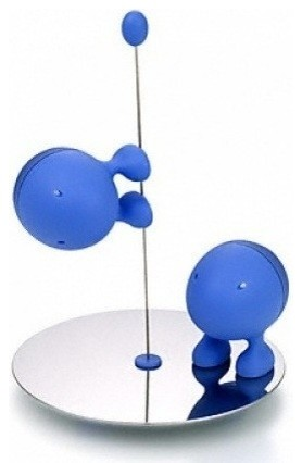 Alessi lilliput salt and pepper set blue modern for Alessi salt and pepper shakers