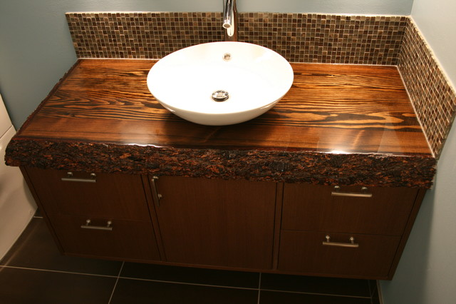 Custom Wood Top Vanity