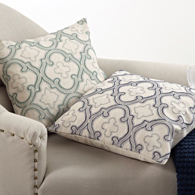 Decorative Pillows Down Filled : Moroccan Design Down Filled 20-inch Throw Pillow - Contemporary - Decorative Pillows - by ...
