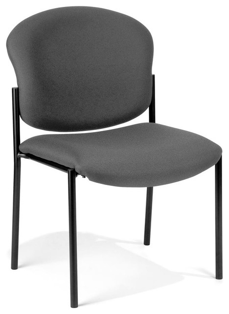 Fabric upholstered stacking armless chair black transitional office chairs by shopladder - Armless office chairs uk ...
