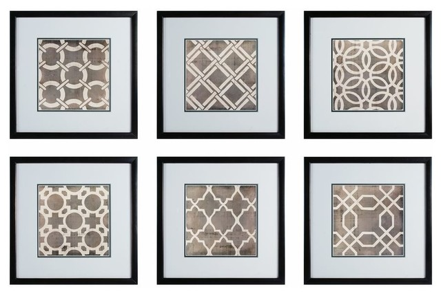 Wall Decor Set Up : Sterling industries symmetry blueprint framed wall
