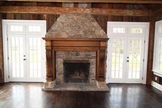 Masonry craftsman family room