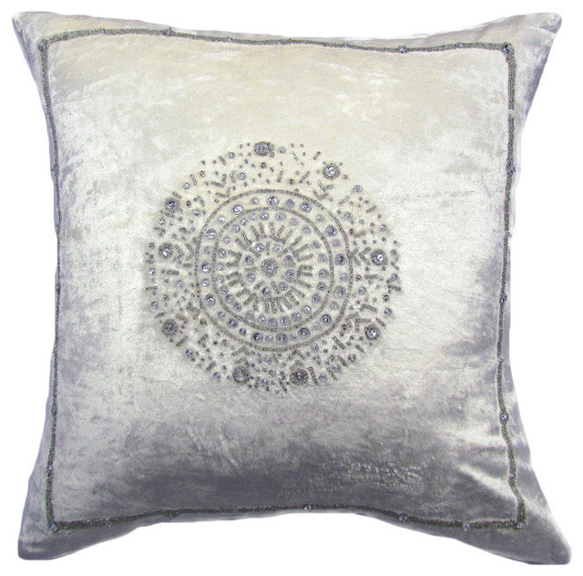 Decorative Down Pillows : Velvet Down Filled Pillow - Contemporary - Decorative Pillows - by Overstock.com