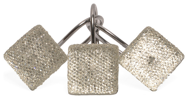 Crystal Diamonds Shower Curtain Hooks Contemporary Shower Curtains By