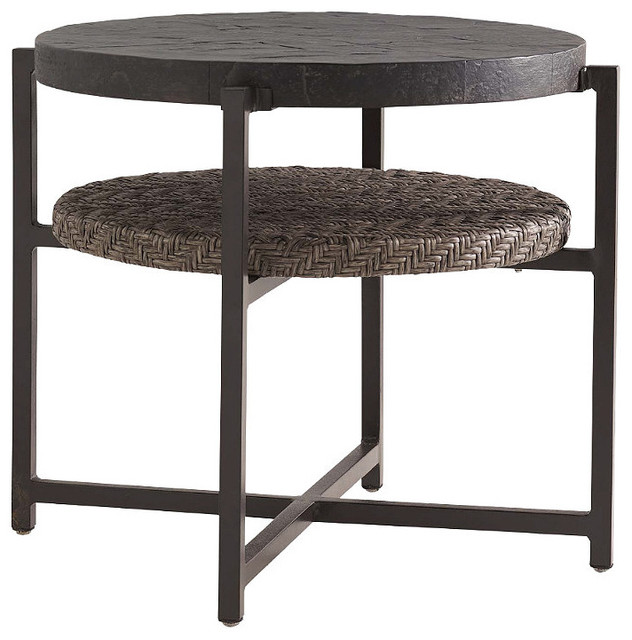 tommy bahama blue green round outdoor end table