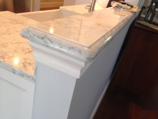 Ogee Edge On Viaterra Solid Surface Transitional