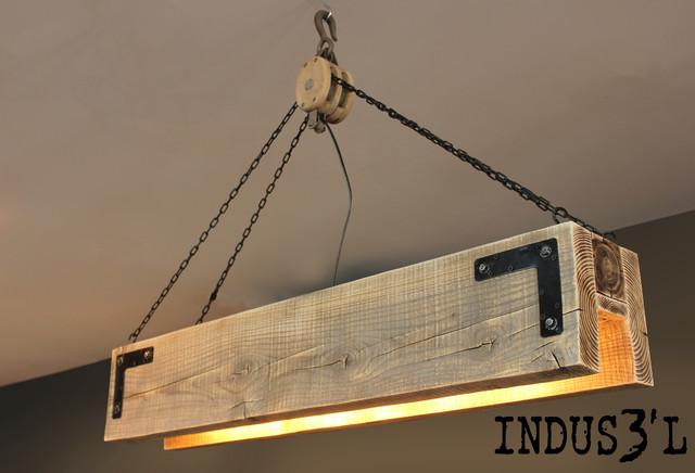 Suspension indus3 39 l rectangulaire industrial pendant for Suspension rectangulaire