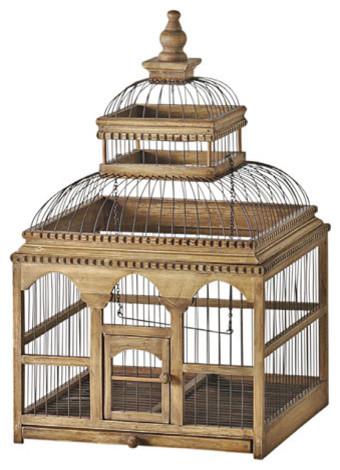 Wooden Bird Cage Decor