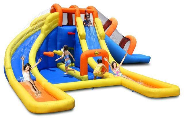 Happy hop aire de jeux gonflable mini parc aquatique contemporain portiqu - Aire de jeux gonflable happy hop ...
