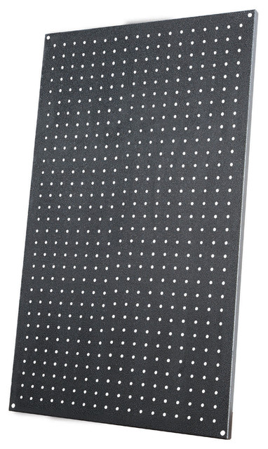 All Steel Pegboard, Black and Gray - Modern - Garage And ...