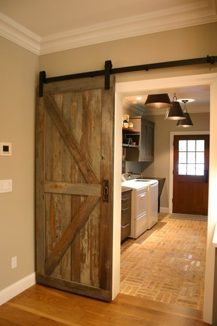 Reclaimed barn door design ideas from projects in nyc new for Recycled interior doors