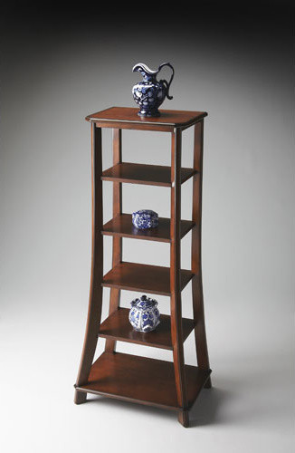Plantation Cherry Etagere Modern Bookcases