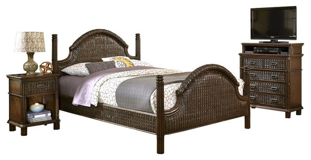king bed with media chest tropical bedroom furniture