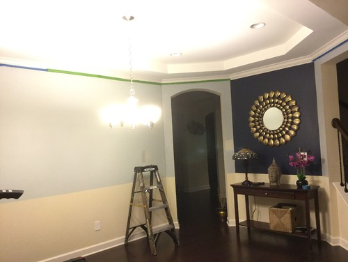 need help with complimentary color to go with navy blue accent wall. Black Bedroom Furniture Sets. Home Design Ideas