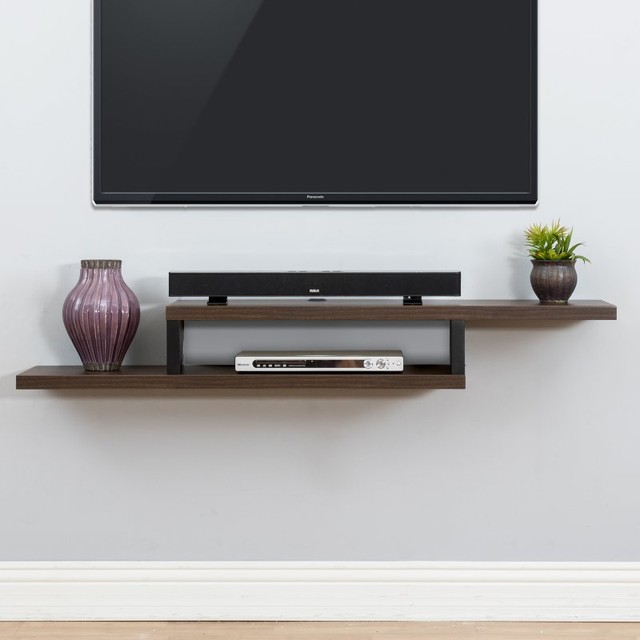 Martin Furniture Ascend Wall Mounted TV Shelf - AS360 - Contemporary ...