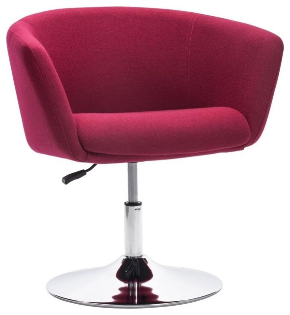 Modern Contemporary Living Room Chair Carnelian Red