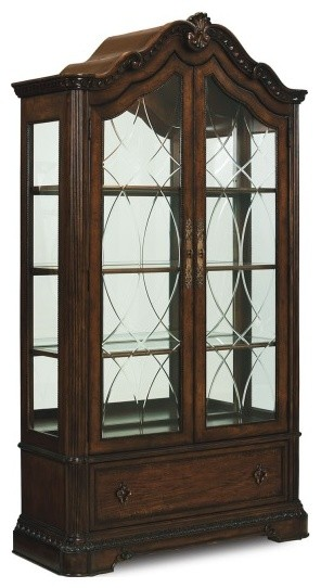 Legacy Classic Furniture Pemberleigh Brown Bunching Curio traditional-china-cabinets-and-hutches