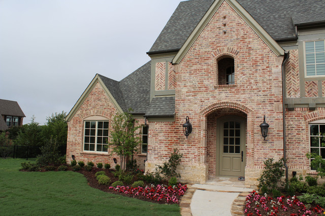 Country french tudor home design dallas by plans by design for French tudor