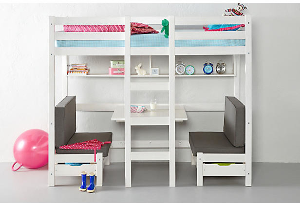 Teenage bed high sleeper contemporary children 39 s beds by wehkamp - Kids bedrooms for ...