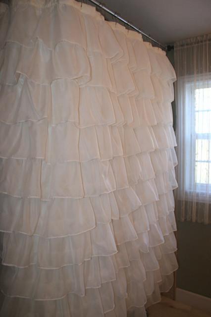 Ruffled Shower Curtains Farmhouse Orlando By Maribel Claribel Interiors