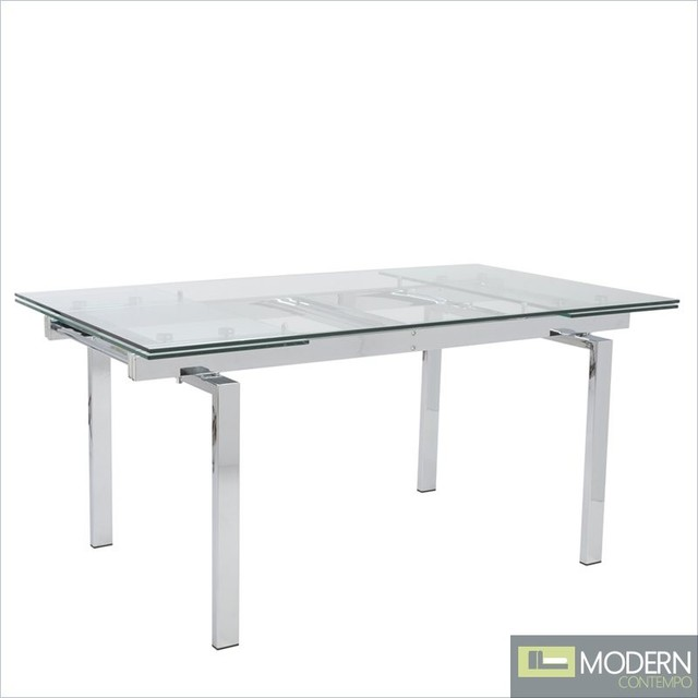 Danube Extendable Rectangular Dining Table Modern Dining Tables
