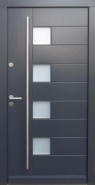 Modern front door hardware the image for Modern house entrance door designs