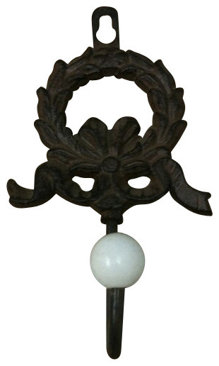 Cast iron christmas wreath single hook wall hanger