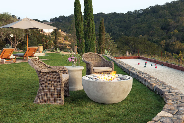 The infinite artisan fire bowl modern fire pits san for Eldorado stone fire bowl