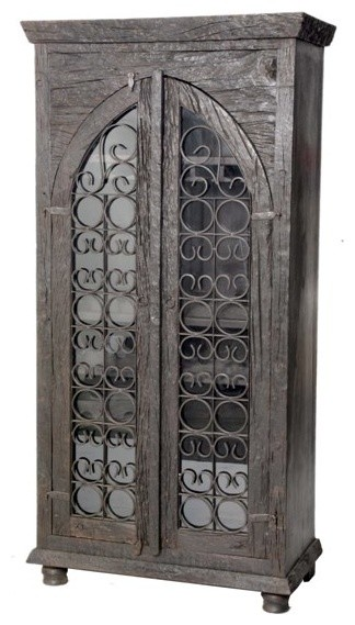 Sleeper Glass Door Wine Cabinet - China Cabinets And Hutches - by Meva