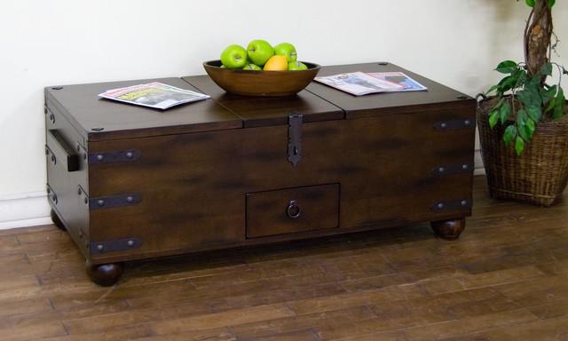 Sunny Designs Santa Fe Trunk Coffee Table In Dark