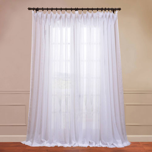 Voile White 50 X 108 Inch Sheer Curtain Pair 2 Panel