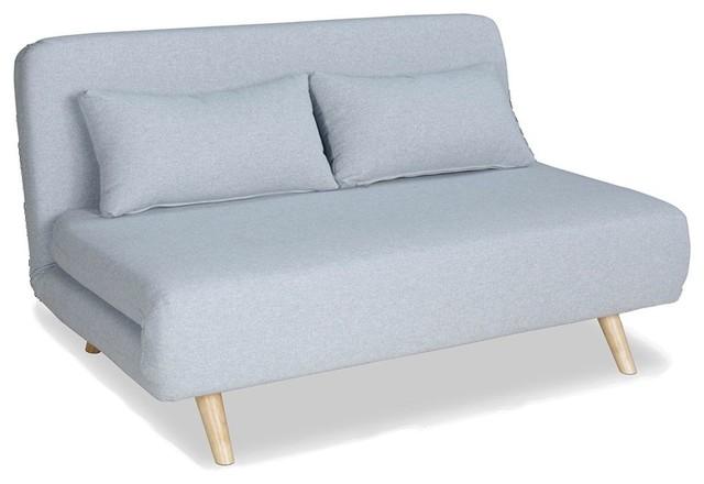 Bleu  Canapà convertible modulable places john couleur bleu pastel