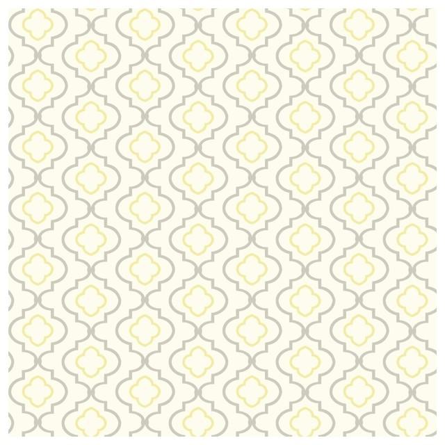 Yellow Trellis Wallpaper: York Sure Strip Yellow Small Trellis Removable Wallpaper