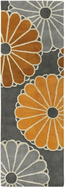 Contemporary thomaspaul hallway runner 2 39 6 x7 39 6 runner for Contemporary runner rugs for hallway