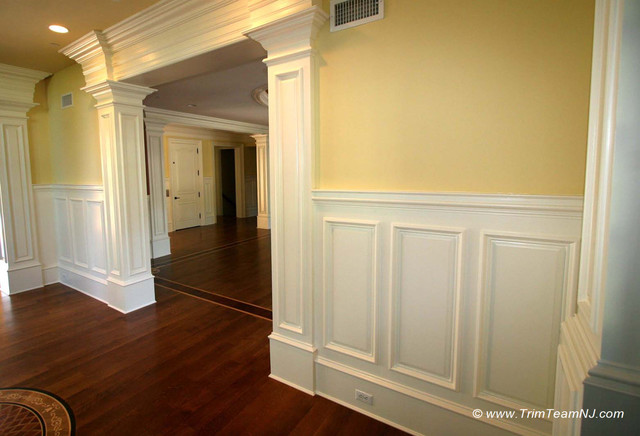 wainscot and picture frames traditional by trim team nj