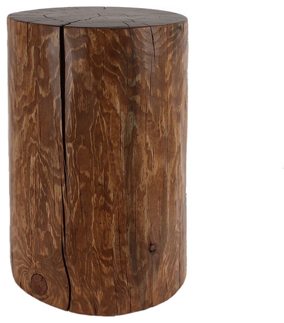 Natural Log Table Contemporary Side Tables And End Tables By Pfeifer Studio