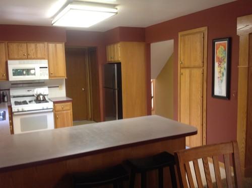 Kitchen Remodel - Honey Oak Trim Throughout House